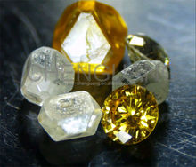 HPHT Single rough crystal synthetic diamond