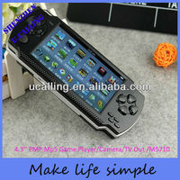 The best gift 4.3'' tft screen mp4 mp5 game player with free gemas download