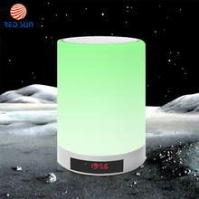 Wireless BT Speaker Touch Sensor LED Lamp With Time Clock And Alarm Clock