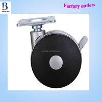 "china BL new-designed wholesale 3"" metal plate nylon funrure caster type suitcase locking caster wheels"
