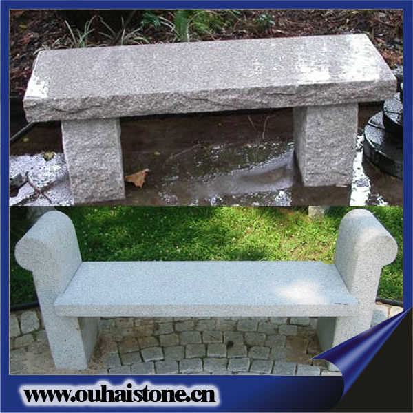 Hot sale natural garden granite stone back garden bench