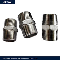 Npt round tube clamp threaded swage nipple