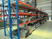 heavy duty steel plate rack blue and orange pallet racking