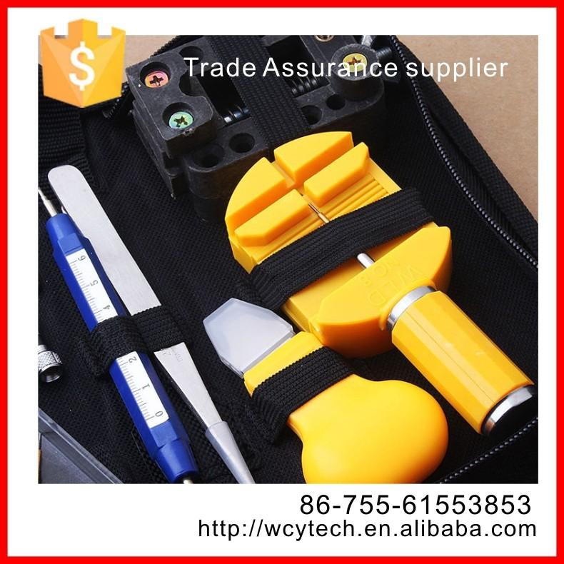 Carry box comma people use watch repair tool kit for case opener, links remover and spring bars