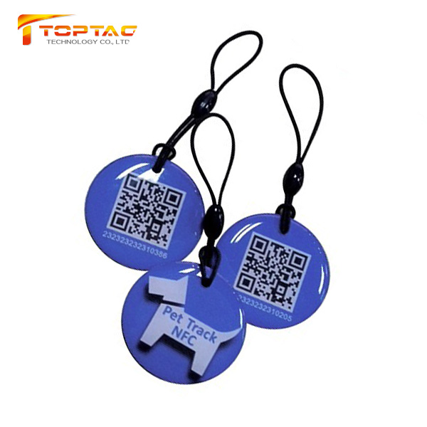 Waterproof T5577 RFID Epoxy Key Fob/ Custom Hotel Key Tags