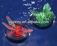 Hot sale plastic solar powered waterproof floating led light for pool with color changing