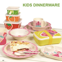 100% Natural Bamboo Fiber Kids Dinner Set,Modern Design Dinnerware Set For Kids