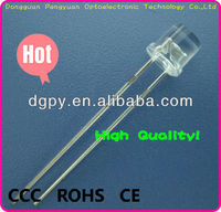 3mm White Flat Top LED Lighting Diode ( CE & RoHS Compliant )