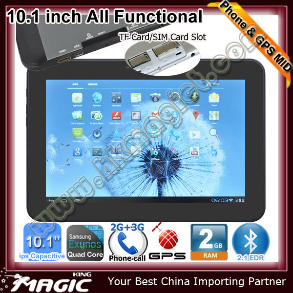 10.1 inch tablet pc 3g sim card slot android gps