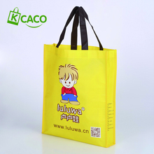 reusable eco friendly pp non woven cartoon laminated shopping gift bags