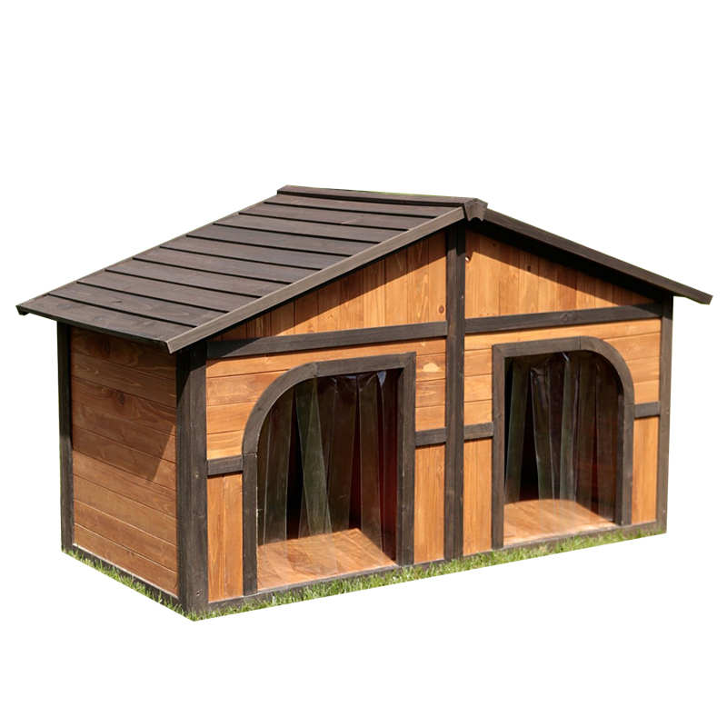 Unique double large dog kennel