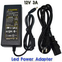 DC LED Power Supply Charger Transformer Adapter 1A-12.5A 110V 220V to 12V For LED Strip 5050 3528 EU US AU UK Cord Plug Sock