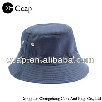 2016 Fashion High quality plain bucket hat with elastic band on the crown
