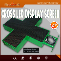 PanaTorch Alibaba hot supplier Led Cross Display Screen IP65 Waterproof P10RG metal/Aluminum cabinet For medical center