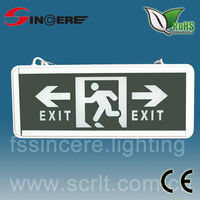 green color single side AL ABS exit led Emergency light cover