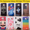 Fashion Soft TPU IMD For samsung Galaxy S6 edge S6edge SM-G9250 G925f UK US Flag Bat Super Man Pattern Painted Case Back Cover