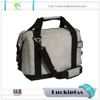 Portable insulated bottle cooler bag 12 pack soft side cooler