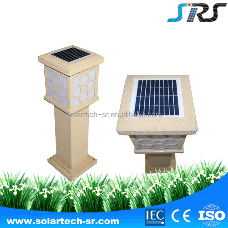 Simulation stone IP55 newest design led solar garden light in the pathway and lawn