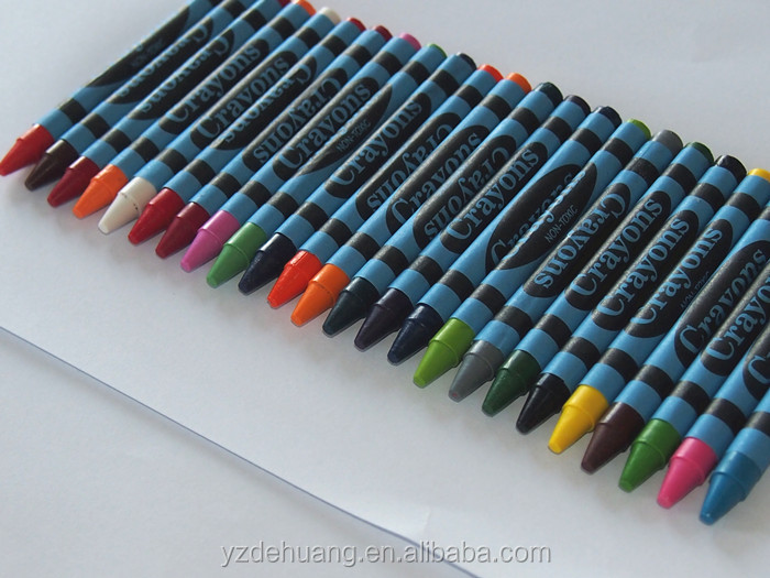 wholesale mixed color wax crayons for kids