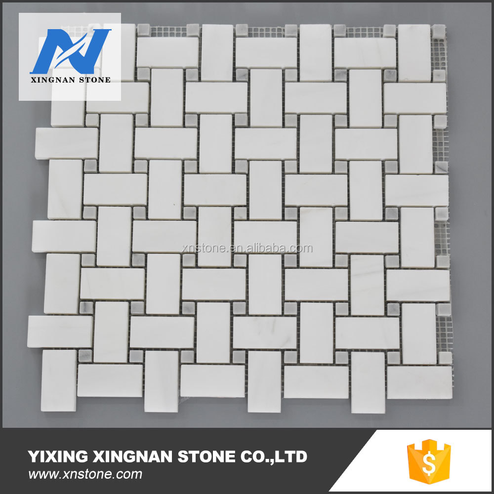 Cheap Factory price Rectangle Dolomite white marble mosaic tile
