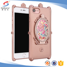 3 in 1 tpu diamond phone case for iphone 7 mirror case for iphone 7case