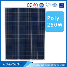 Good quality low price 60cells 156mm * 156mm poly 250 Watt solar panel in stock