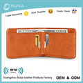 Custom Logo Slim Wallet Genuine Leather Wallet Slim Bifold Wallet with RFID Protection