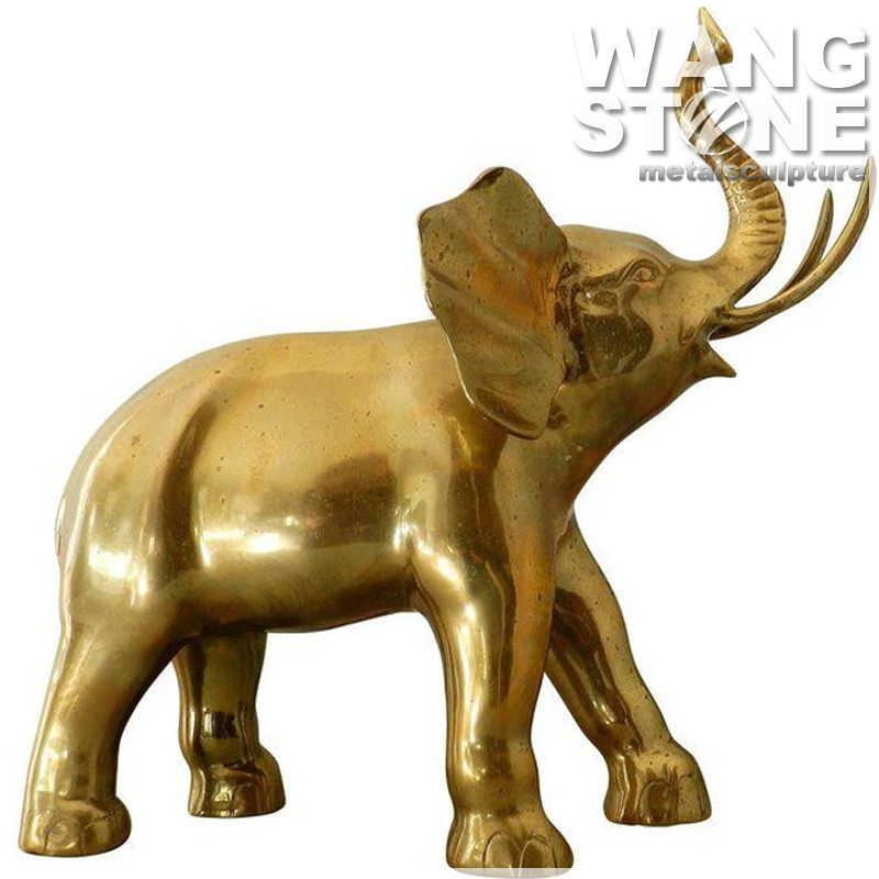 Life Size Antique Brass Elephant Sculpture