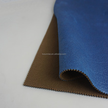 brushed polyester suede fabric faux leather for corner sofa