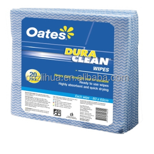 anti bacterial spunlace nonwoven clean wipes , lint free wiping rags , heavy duty dura cleaning wipes