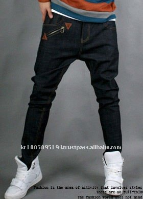 jsf12 low crotch carrot mans denim jeans