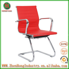 2014 Hot Sell Office Chair PU with Floor Mat Footpad Stack Chair Frame Chair Chrome Electroplate