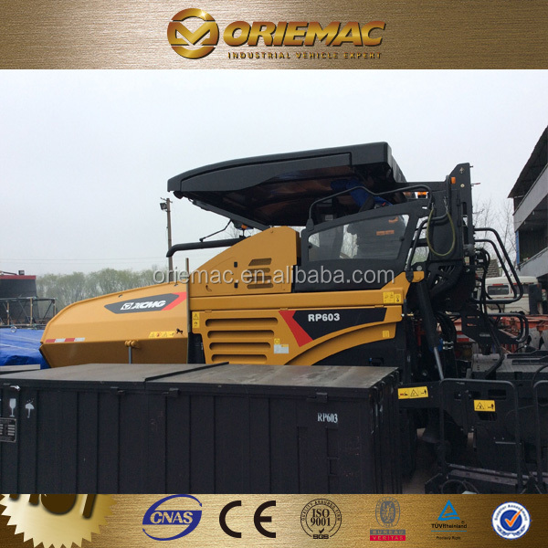 XCMG asphalt paver 4/6/8m cement concrete road paver machine RP602/603