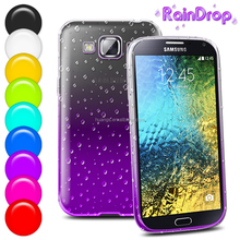 phone accessories Flashing transparent waterdrop smartphone cover raindrop gel tpu case for samsung galaxy e7 wholesale alibaba