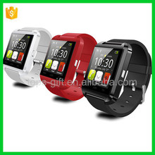 factory supply touch screen LCD/LED android U8 smart watch with Bluetooth