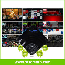 Rippl-TV Android internet stream tv box with free latest live English channels for USA and UK