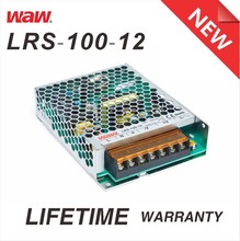 Slim type 12v 8.33a 100w LRS-100-12 ac to dc 110V/220V LED Power Supply with CE ROHS approved