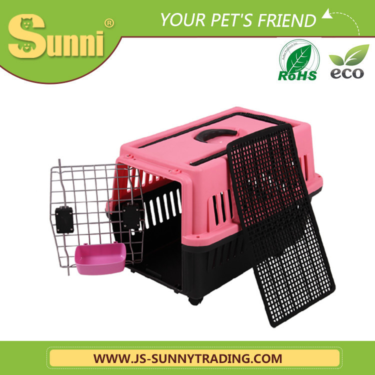 Boxes pet air carrier big with wheels modular dog kennel