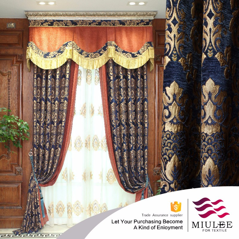 german lace fabric organza curtains with door curtain rope