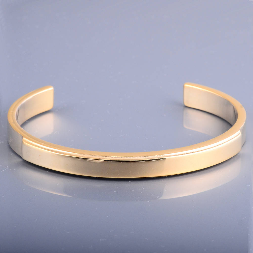 New High Polished Yellow Gold Bracelet Designs For Girls