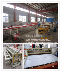 automatic PVC laminated gypsum ceiling board production line / laminator for pvc foil