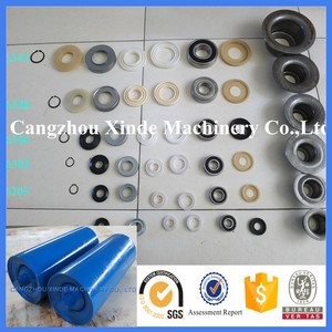 bearing housing and seals components for belt conveyor idler roller