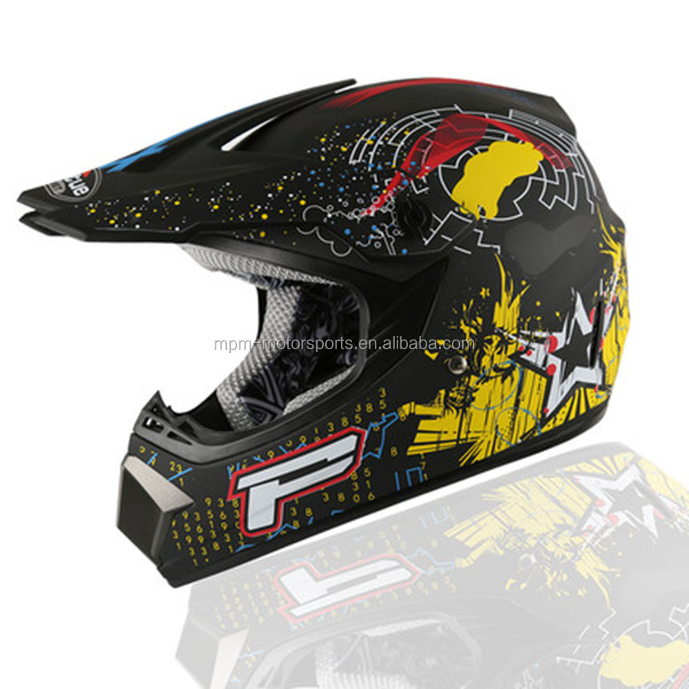 ABS material fully covered off road motorcycle helmet