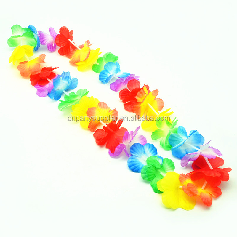 Wholesale High Quality Flower Strings Garlands/Artificial Hawaiian Flower Leis /Flower Wreaths