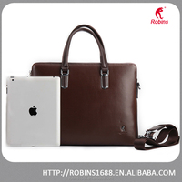 Hot sales men business handbags PU leather briefcase