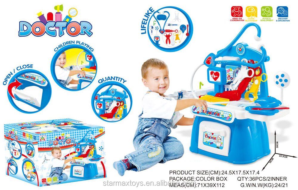 Educational doctor table play set toys for grils and boys