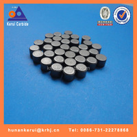 cemented carbide rock drilling button with flat top for super hard/medium hard formation