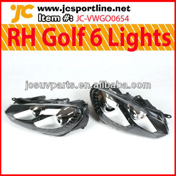 Golf VI Right-hand Drive Headlight MK6 R20 HID Front Lamps for VW