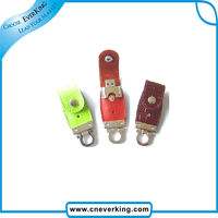 2014 best business gifts Leather Usb flash Disk With Any Color