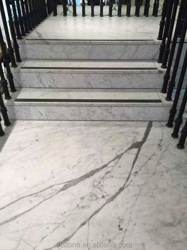 natural stone polished white marble tile,factory produced white marble floor for sale